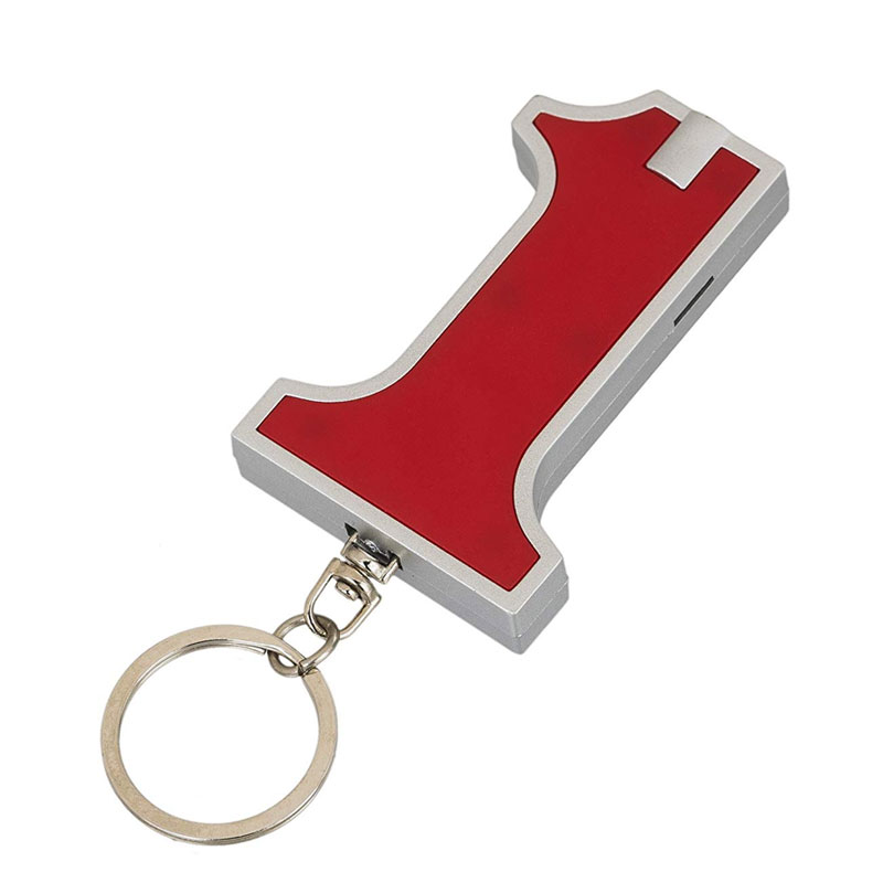 No 1 Keychain with Torch