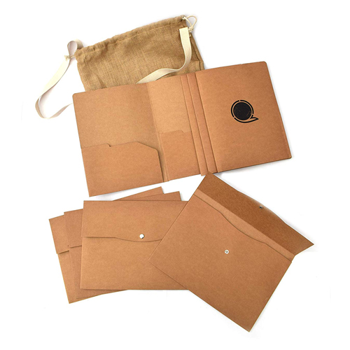 Eco Office Folders in a Large Jute Bag