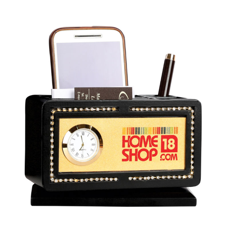 Pen & Mobile Stand with Watch