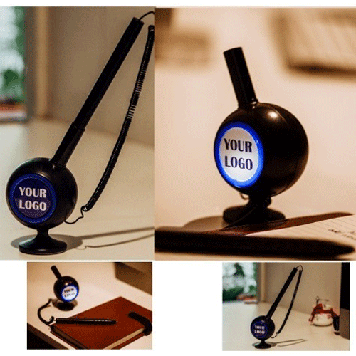 Quill - Desktop Pen With Light Up Logo Stand
