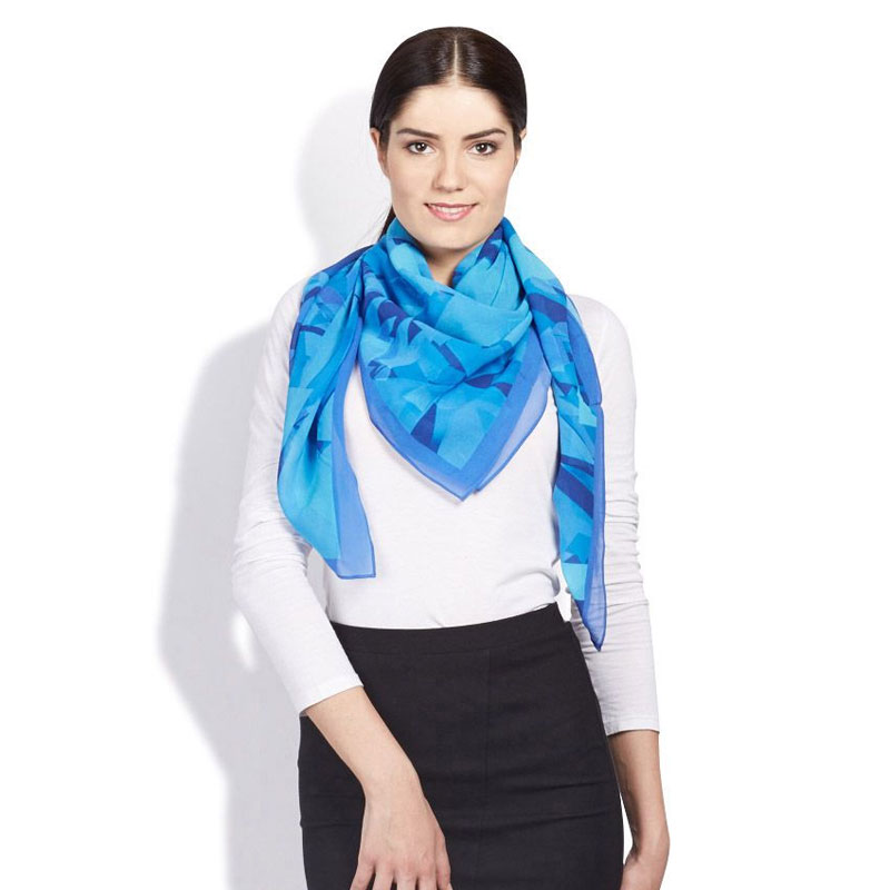 Satya Paul Blue Chiffon Scarves