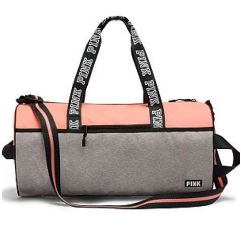 Secret Pink Duffle Bag Orange Gray
