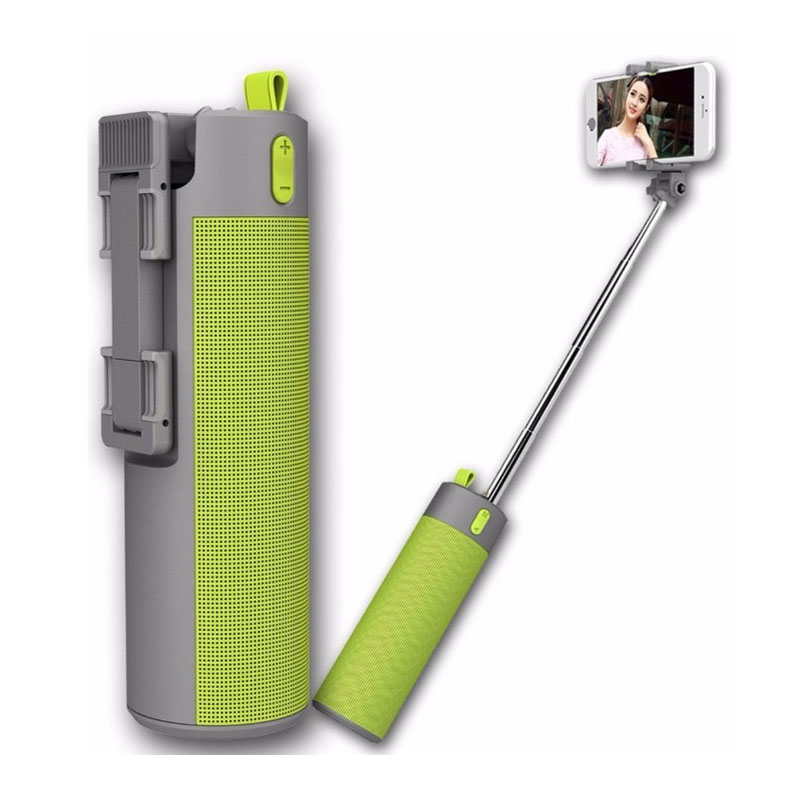 Wireless Speaker with Selfie Stick and Power bank