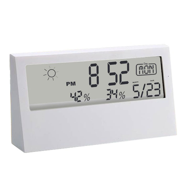 Sharp Weather Station Clock With See - Thru Display