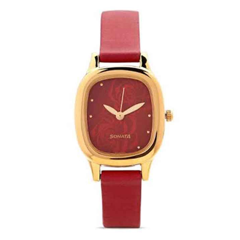 Sonata NG8060YL03C Yuva Gold Analog Watch