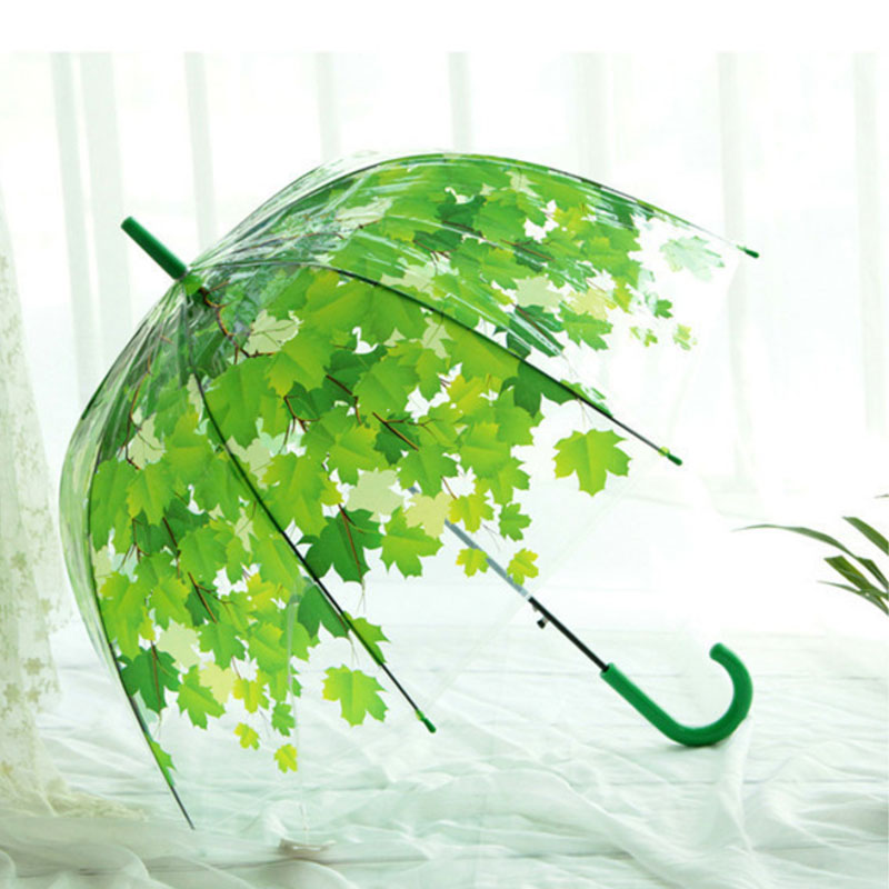 Straight Transparent 8 Panel Umbrella