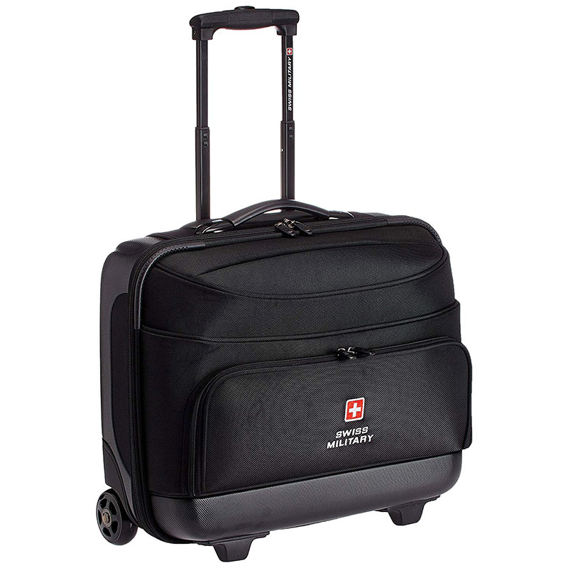 Swiss Military 45 Ltrs Black Laptop Trolley Bag