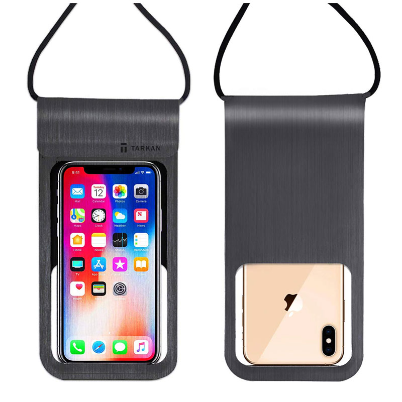 Tarkan Spot Leather with TPU Touch Travel Pouch