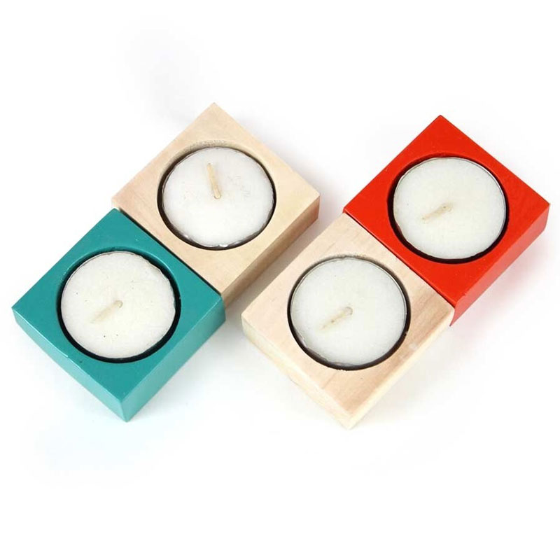 Tea Light Wooden Candles