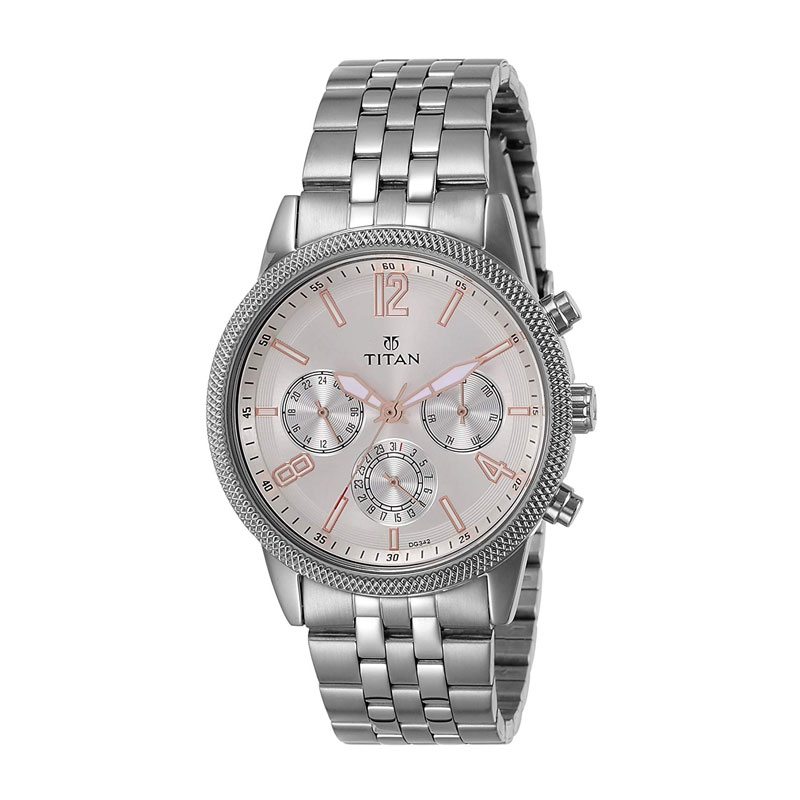 Titan Neo Analog Silver Dial Men's Watch