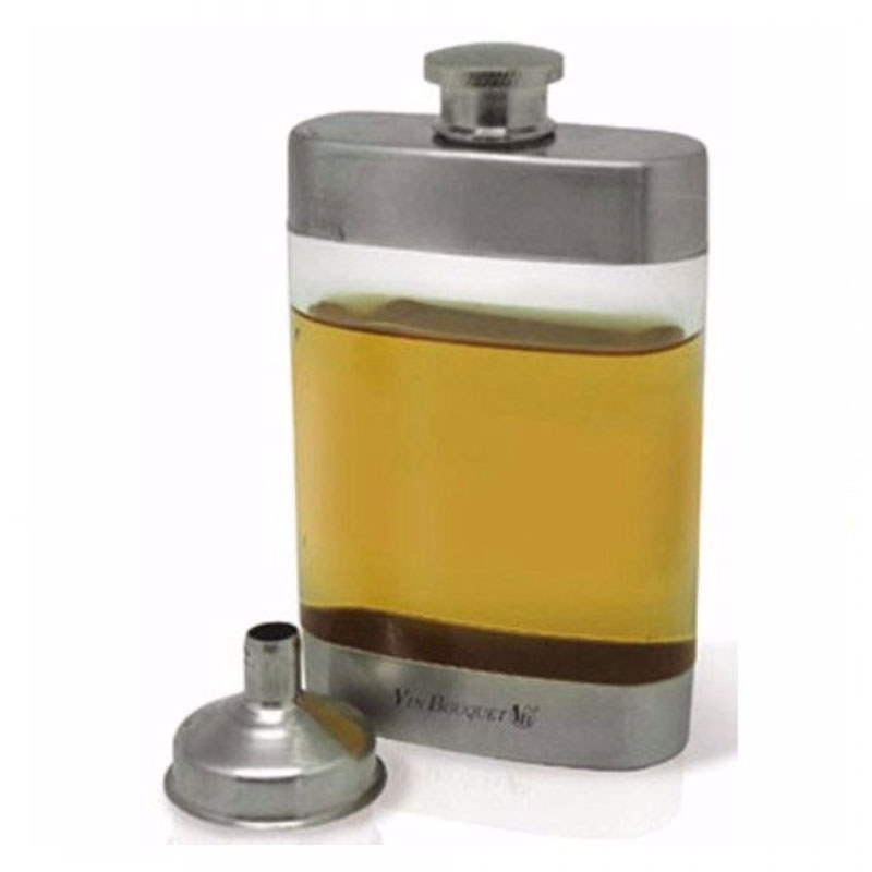 Transparent Pocket Hip Flask Set - 5 Oz