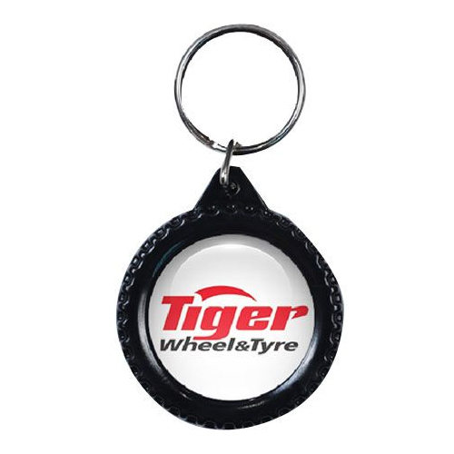 Tyre Key Ring With Domed Sticker