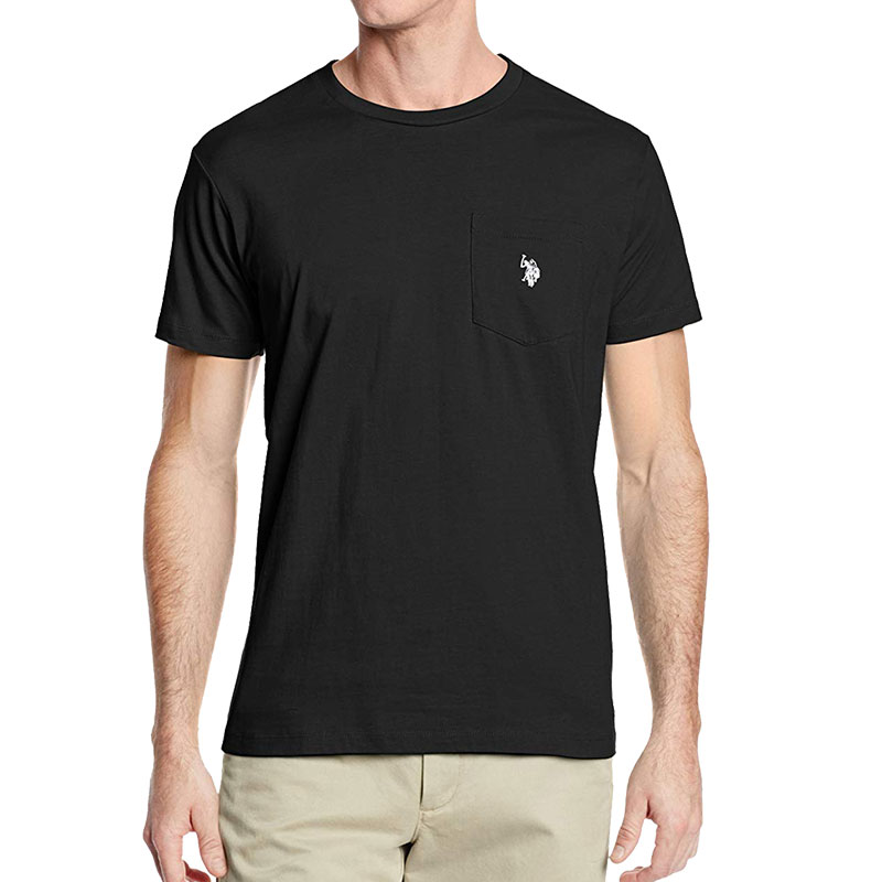 US POLO ASSN Mens Crew-Neck Pocket T-Shirt