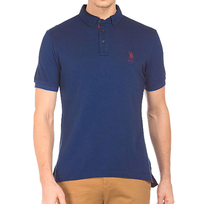 US POLO ASSN Mens Blue Collar T-Shirt