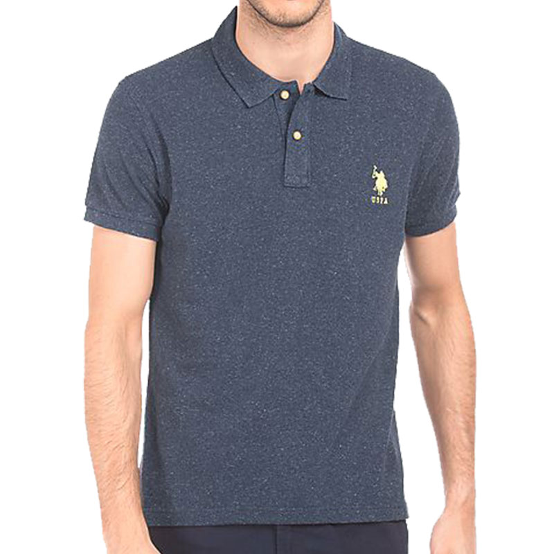 US POLO ASSN Mens Grey Collar T-Shirt