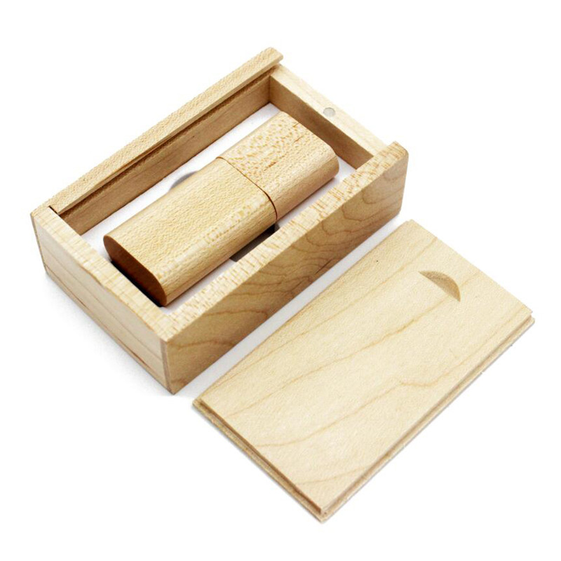 USB Wooden Pen Drive With Box