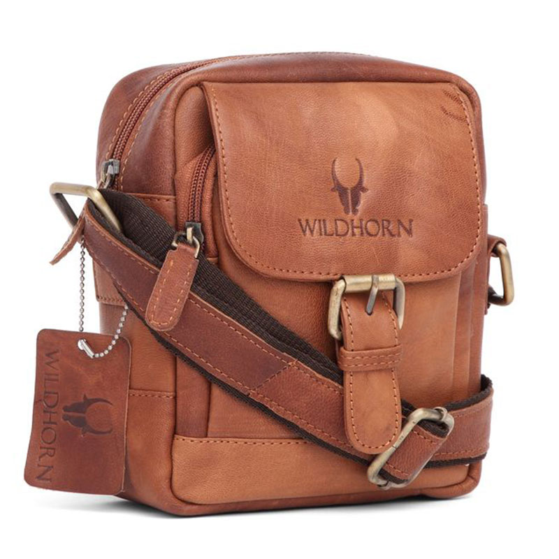 WildHorn Vintage Leather Messenger Bag