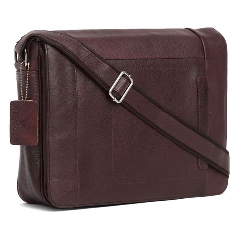 WildHorn Urban Edge Leather Brown Laptop Bag