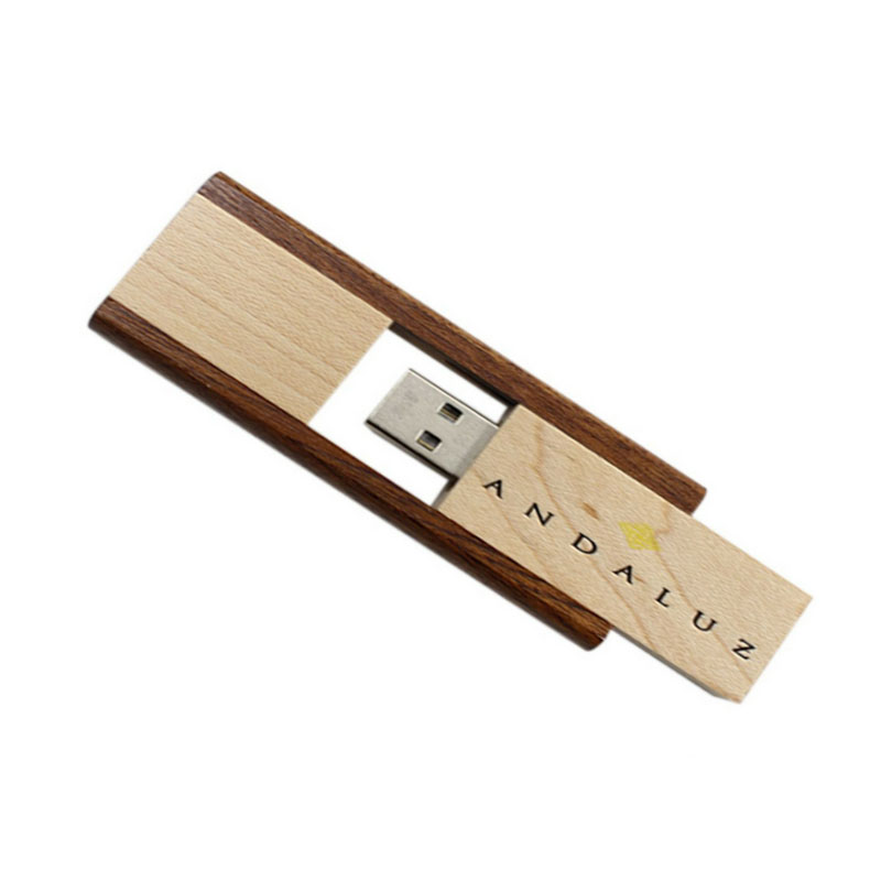Wooden Pull Out Pendrive