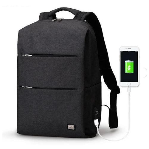 Water Resistant USB Charging Laptop Backpack