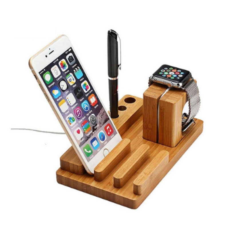 Wooden Charging Stand Bracket Docking Station