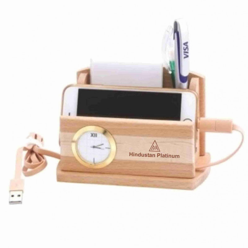 Wooden Desktop Charging Station
