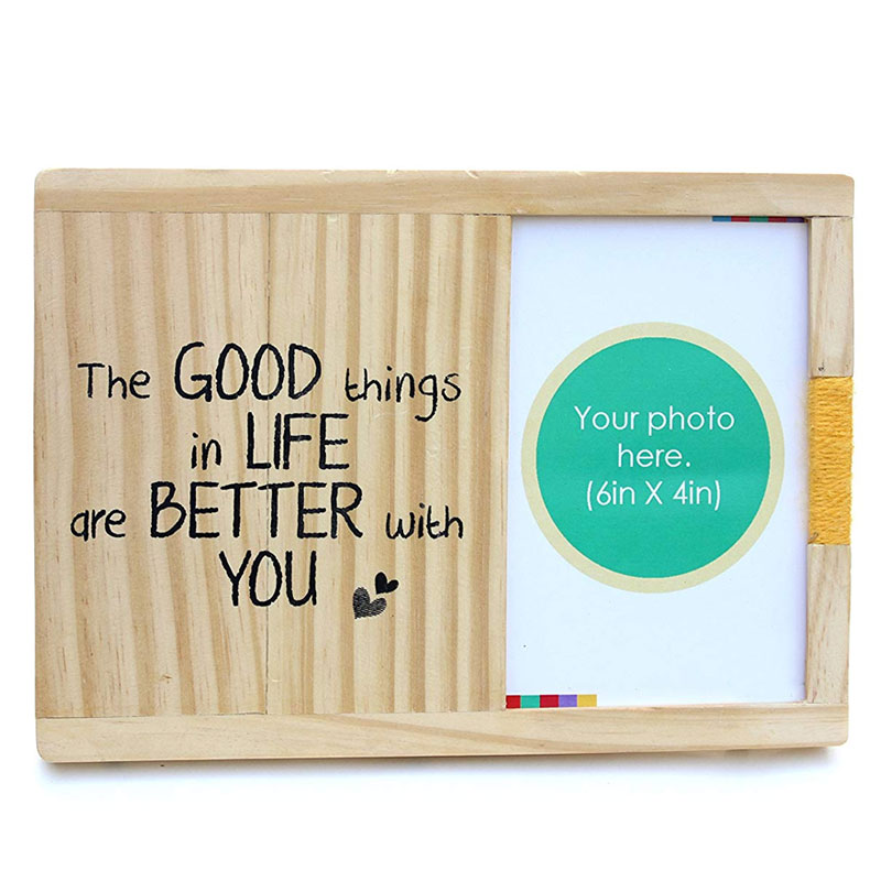 Wooden Table and Wall Photo Frame