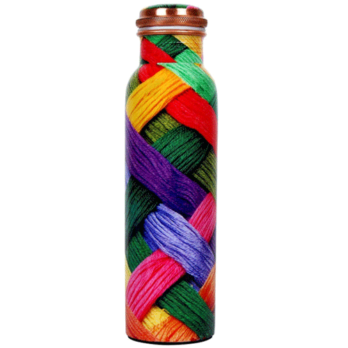 Wool Printed Copper Water Bottle