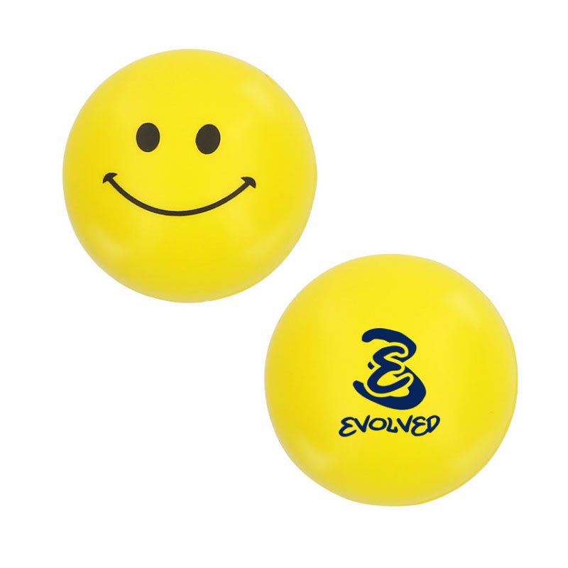 Yellow Smiley Stress Ball