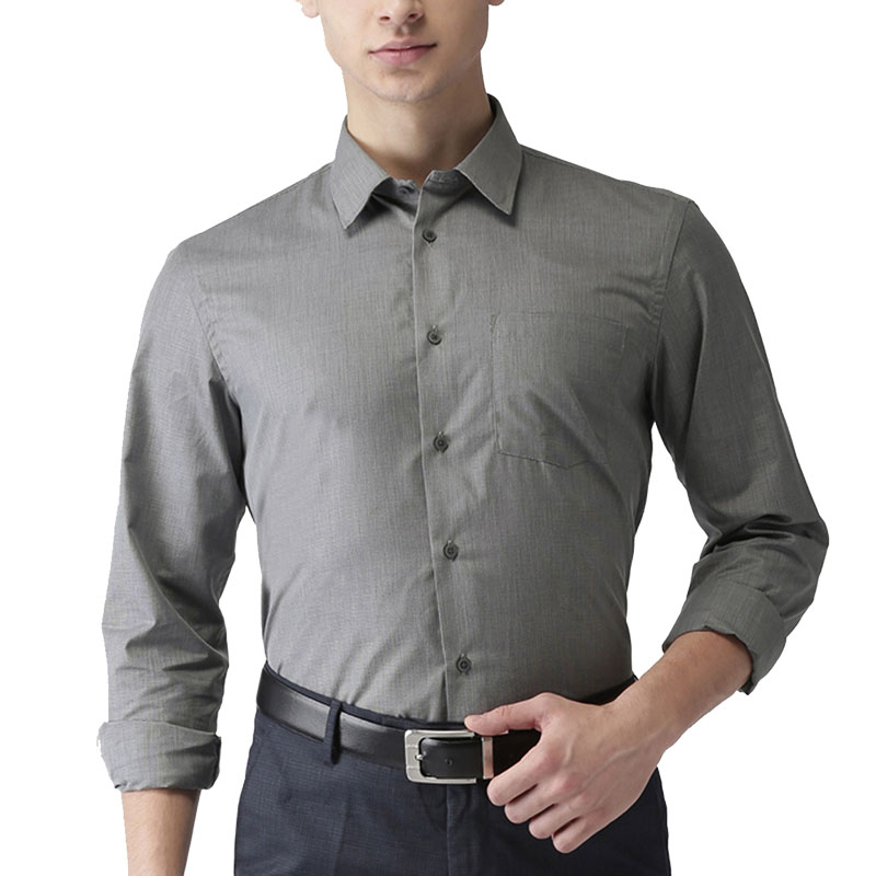 Arrow Men Grey Slim Fit Shirt