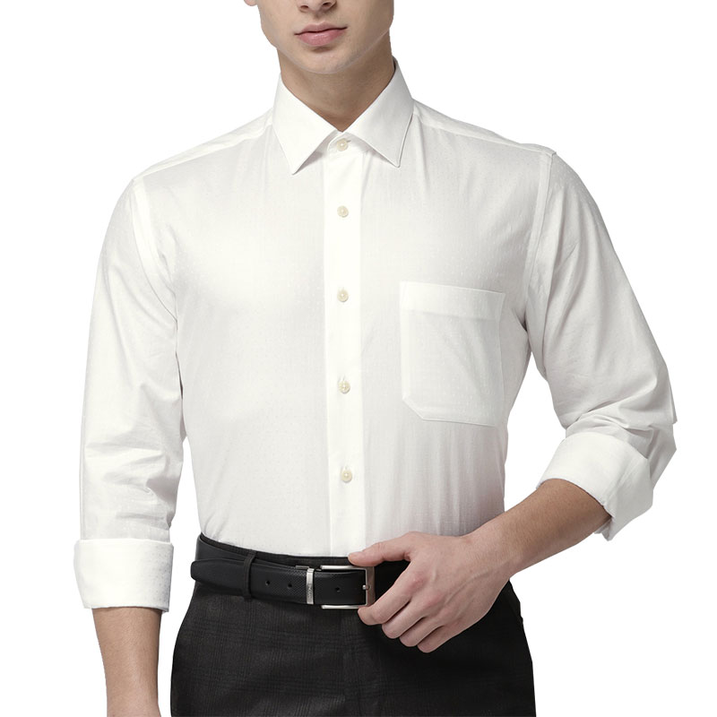 Arrow Men White Regular Fit Shirt